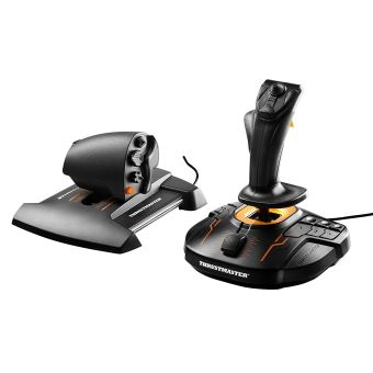 Joystick Gaming et Manette des gaz Thrusmaster T.16000M FCS Hotas Noir et orange