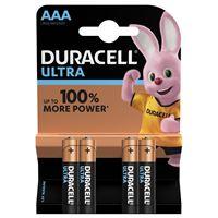 4 Piles AAA Duracell Ultra Power