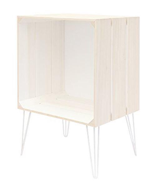 Meuble gagette coloris blanc - Dim: 30 x 60 x 40 cm - PEGANE -