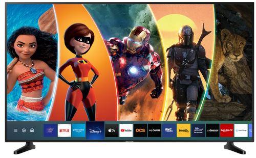 """Plus de détails TV Samsung UE75RU7025 4K Ultra HD LED Smart TV 75"""" application Disney+ disponible Noir"""