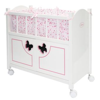 accessoire pour poup e lit en bois avec armoire calinou maison de poup e achat prix fnac. Black Bedroom Furniture Sets. Home Design Ideas