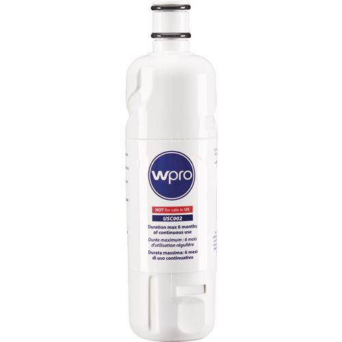 Filtre à eau interne Wpro adaptable pour réfrigérateurs américains USC002 Blanc