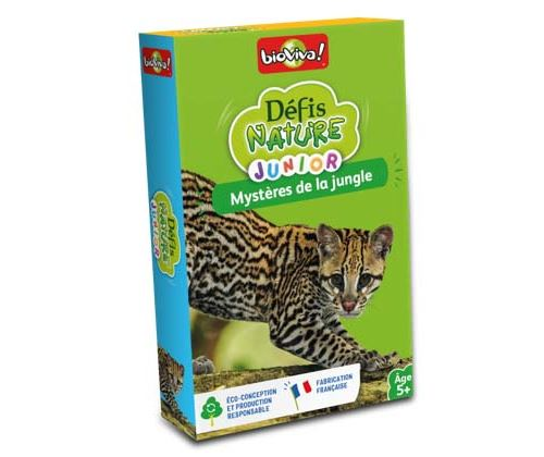 Jeu de cartes Bioviva Défis Nature Junior Mystères de la jungle
