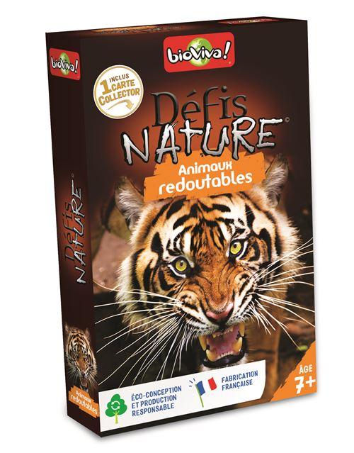 Jeu de cartes Bioviva Défis Nature Animaux Redoutables