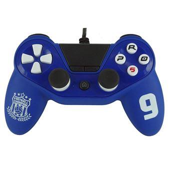 Manette PS4 filaire Subsonic Pro 5 Sport Bleu