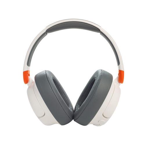 Casque circum-auriculaire sans fil Bluetooth à réduction de bruit pour enfants JBL JR460 NC Blanc