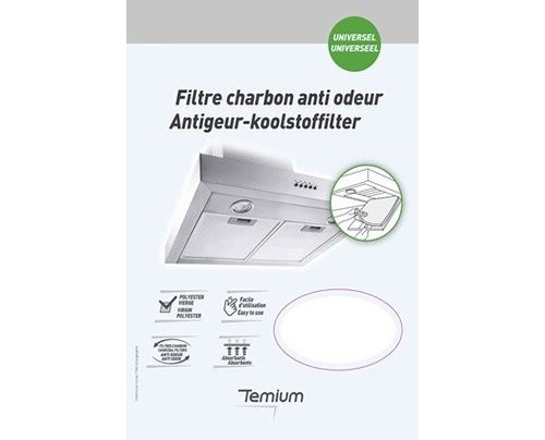 Filtre charbon anti odeur Temium
