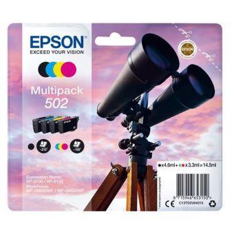 Multipack de 4 cartouches d'encre Epson 502