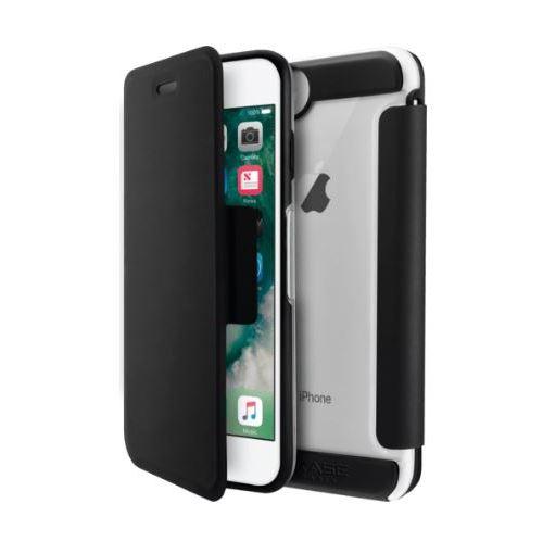 Coque de protection avec clapet folio The Kase Air Noir pour Apple iPhone 6, 6s, 7, 8