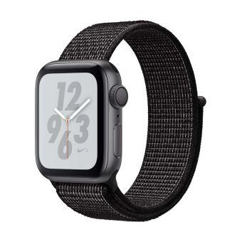 Apple Watch Series 4 Nike+ 40 mm Kast van spacegrijs aluminium, met zwart sportbandje van Nike