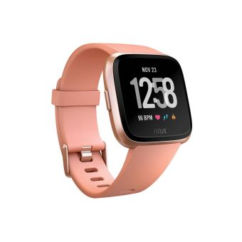 FITBIT VERSA WATCH PEACH ROSE GOLD ALUMINIUM