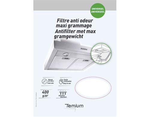 Filtre universel Temium Mousse anti odeur Maxi grammage Blanc