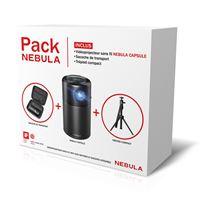 Nebula Capsule Vidéoprojecteur sans fil + Sacoche de Transport + Trépied Compact