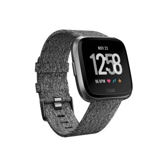 FITBIT VERSA WATCH SPECIAL EDITION CHARCOAL WOVEN