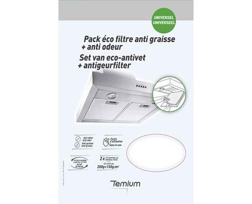 Pack éco filtres anti graisse et anti odeur Temium
