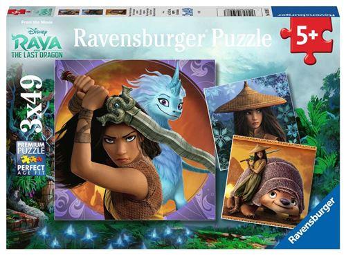 Puzzle enfant 3 x 49 pièces Ravensburger Disney Raya et le dernier dragon