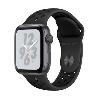 Apple Watch Series 4 Nike+ 40 mm Kast van spacegrijs aluminium, met antraciet/zwart sportbandje van Nike