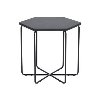 20 sur table basse d appoint bout canap hexagone noir achat prix fnac. Black Bedroom Furniture Sets. Home Design Ideas