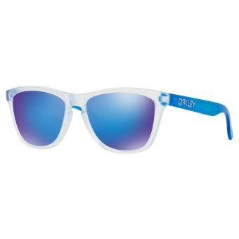 b7f648e3183ad3 Lunettes de sport Oakley Frogskins Colorblock Collection Blanches et bleues