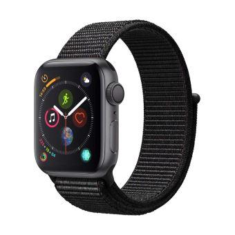 Apple Watch Series 4 40mm Kast van Space Grey Aluminium + Zwart Geweven Sportbandje