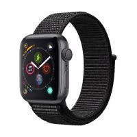 Apple Watch Series 4 40 mm Boîtier en Aluminium Gris sidéral avec Boucle Sport Noir