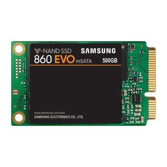 Disque SSD Interne Samsung 860 Evo SATA III mSATA 500 Go Noir et vert