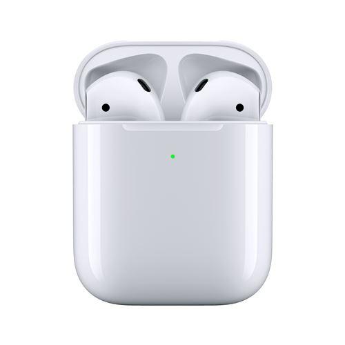 Ecouteurs sans fil Apple AirPods 2 avec boîtier de charge sans fil à induction