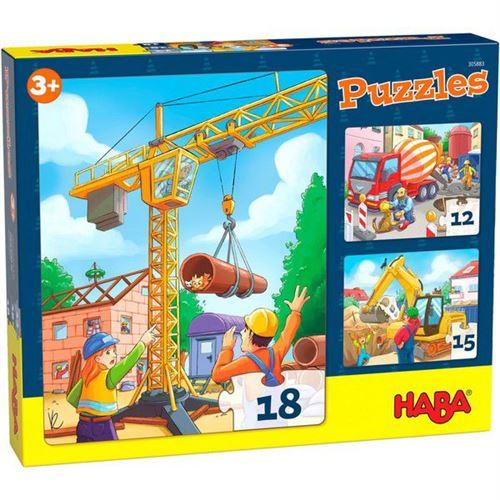 Puzzles enfant Haba Engins de chantier