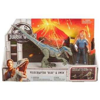 2 Mattel De Blue Et Velociraptor Set Figurines Owen Jurassic World mN8wnv0