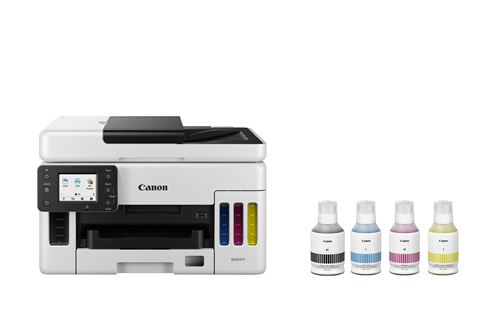 Imprimante multifonction Canon Megatank GX6050 Blanc et Noir