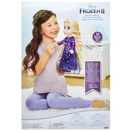 Disney Frozen 2 Elsa Zingende Pop 38 cm -[Artikel bestemd voor de Franse markt (niet verkrijgbaar in het Nederlands)]