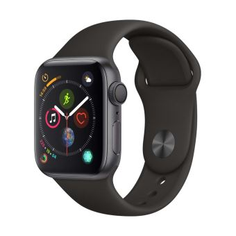Apple Watch Series 4 40mm Kast van Space Grey Aluminium + Zwart Sportbandje