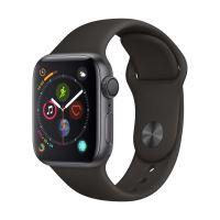 Apple Watch Series 4 40 mm Boîtier en Aluminium Gris sidéral avec Bracelet Sport Noir