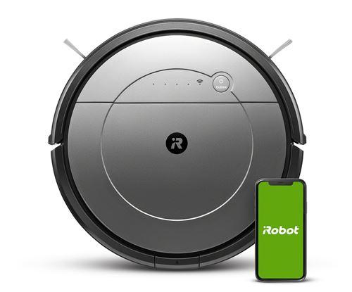 Aspirateur robot Irobot Roomba Combo Gris et Noir