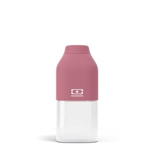 Bouteille de forme carrée Monbento Positive S Rose Blush