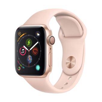 Apple Watch Series 4 40 Mm Boîtier En Aluminium Or Avec Bracelet Sport Rose  Des Sables