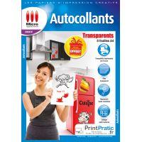 Micro Application transparent autocollant A4 5091