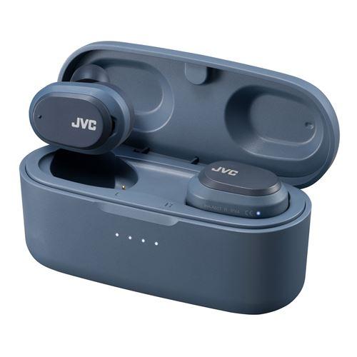 Ecouteurs sans fil Bluetooth à réduction de bruit JVC HA-A50T True Wireless Bleu