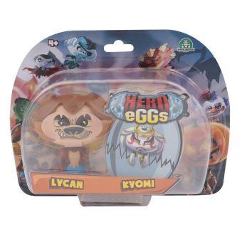 Figurines Hero egg Blister 2 Hero eggs Kyomi et Lycan