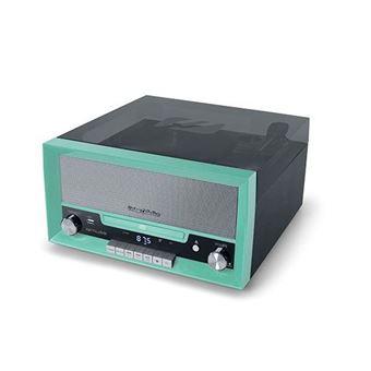 CD Muse MT-110 GR Microsysteem Groen en Zwart met Vinyl Plaat