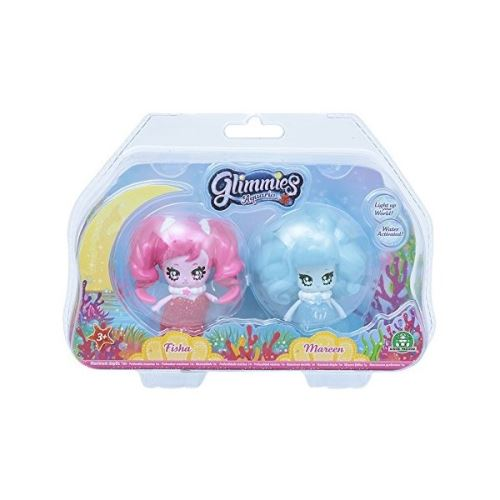 2 Figurines Glimmies Blister Aquaria Fisha et Mareen 6 cm