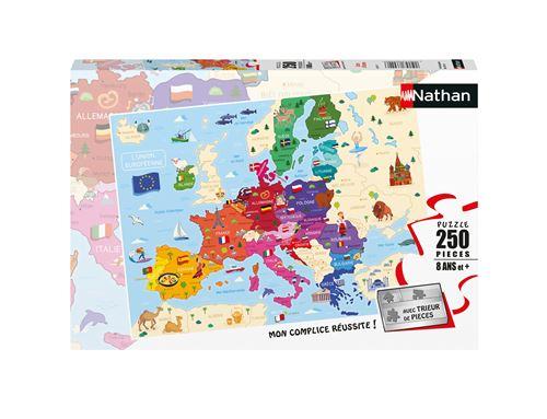 Puzzle enfant Nathan Carte d'Europe 250 pièces