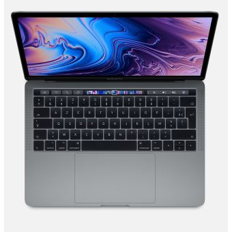 Apple MacBook Pro 13.3'' Touch Bar 256 Go SSD 8 Go RAM Intel Core i5 quadricœur à 2.4 GHz Gris sidéral Nouveau