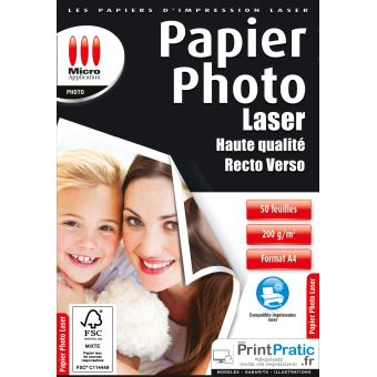 Micro Application Laser Fotopapier A4 200 g/m²