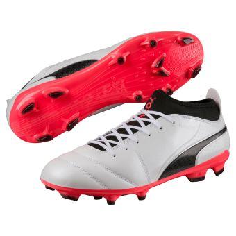 Chaussures de football Puma One 17.3 FG Blanches, noires et rouges Taille 44.5 - Chaussures ou chaussons de sport - Equipements sportifs