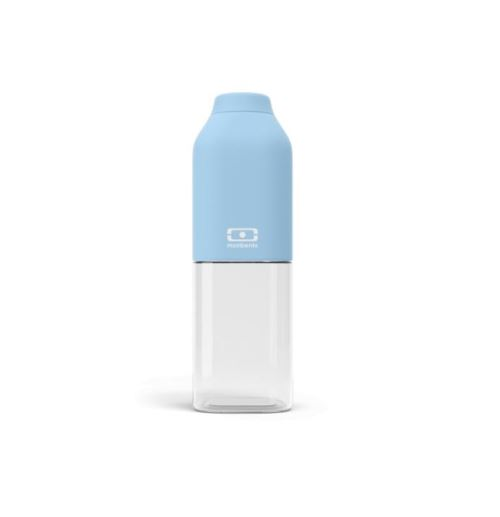 Bouteille de forme carrée Monbento Positive M Bleu Crystal
