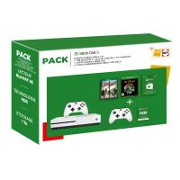 Pack Fnac Console Microsoft Xbox One S 1 To Blanc + 2ème manette + The Division 2 + Sea Of Thieves + Carte Cadeau Xbox 50€ + 3 mois de Live Gold