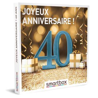 Coffret Cadeau Smartbox Joyeux Anniversaire 40 Ans Coffret Cadeau Achat Prix Fnac