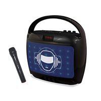 Enceinte Bluetooth portable rétro-éclairé Lexibook Noir avec Microphone sans fil pour Karaoké
