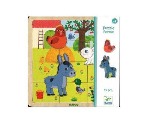 Puzzle en bois Djeco Ferme